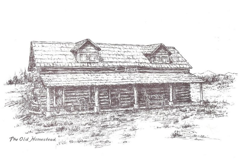 Drawing of Old Homestead