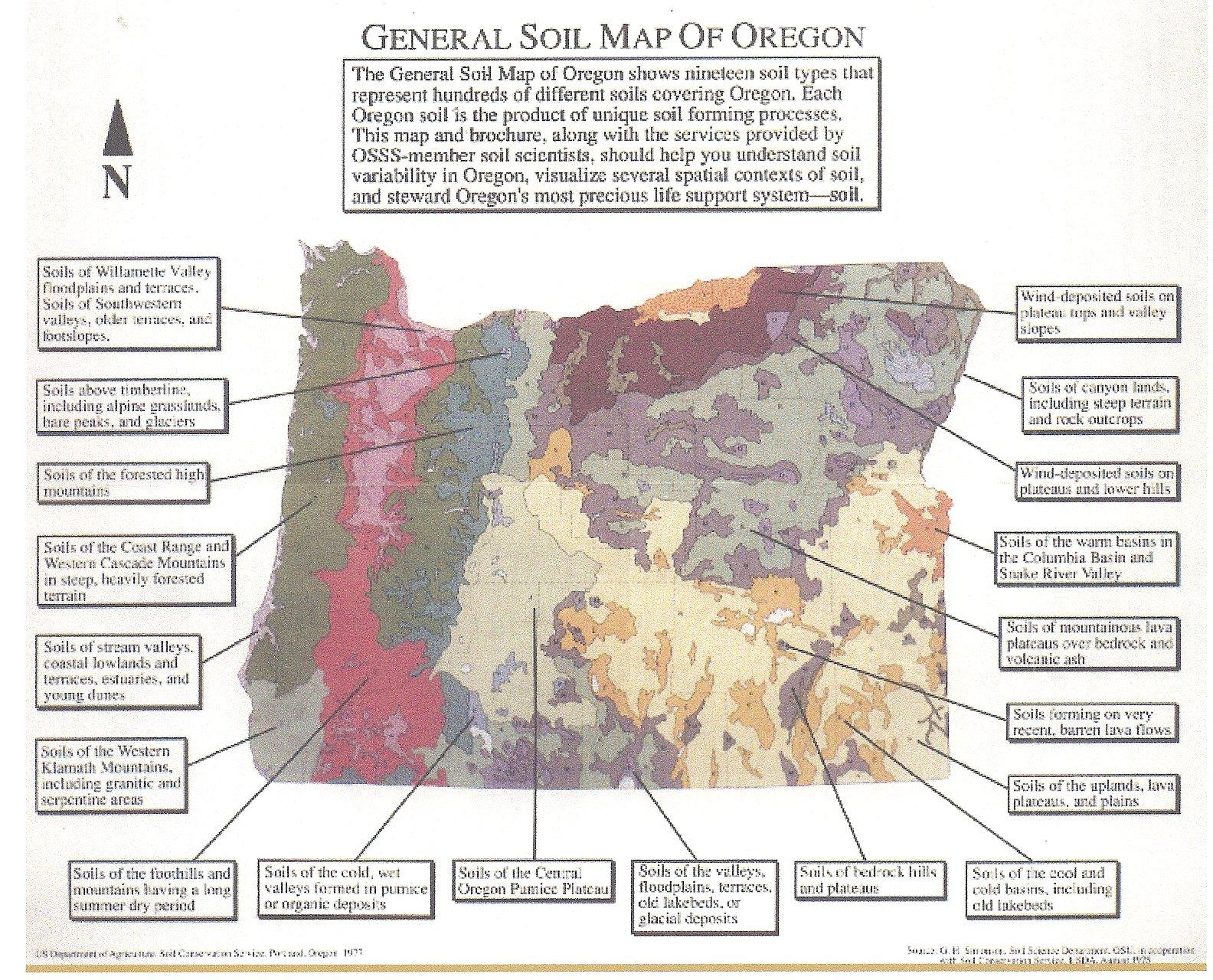 Oregon Soils Map