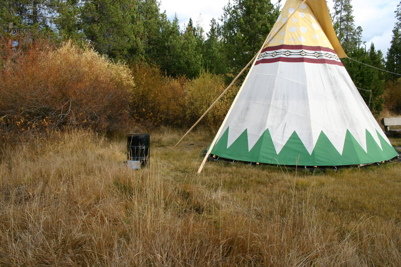 teepee poles for smoke hole